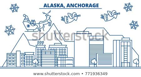 Alasca linha do horizonte azul edifícios negócio Foto stock © ShustrikS