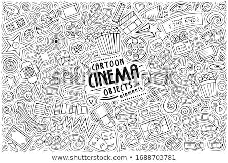 Vector set of Cinema theme items, objects and symbols Stock photo © balabolka