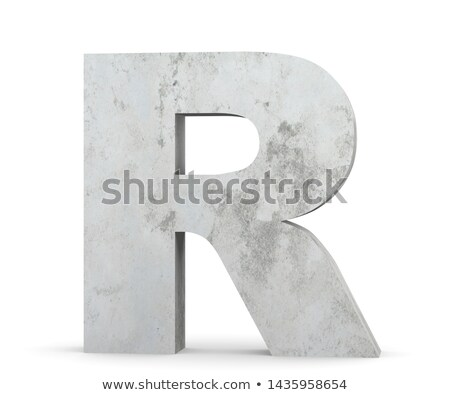 Capital letter R Stock photo © grafvision