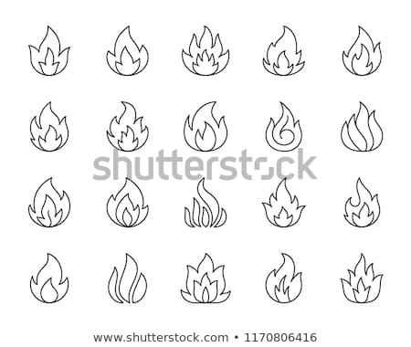 Brandend gas brandstof icon vector schets Stockfoto © pikepicture