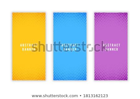 Resumen medios tonos estilo vacío vertical banners Foto stock © SArts