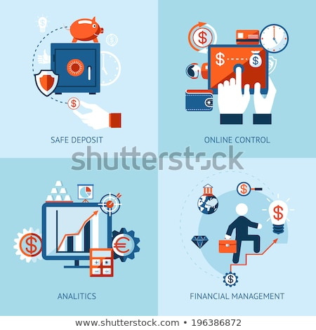 Banking concept infographic. Vector icons of financial analytics, online banking and payment control Stock photo © LittleCuckoo