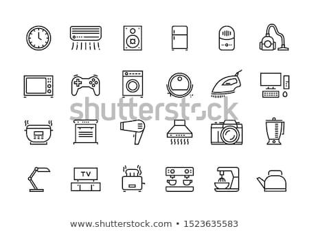 Konyha eszköz mikró felszerlés vektor fogantyú Stock fotó © robuart