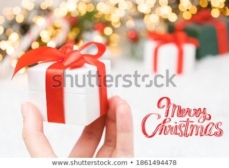 Woman with giftboxes Stock photo © pressmaster