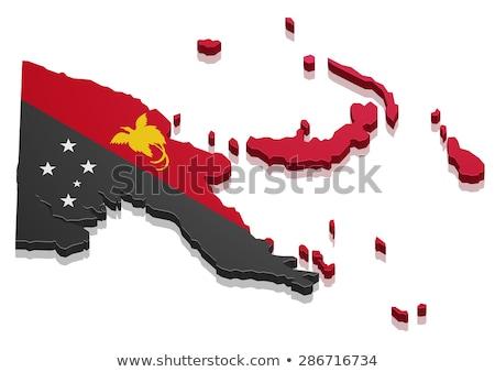Papua Nova Guiné bandeira branco assinar cor vento Foto stock © butenkow