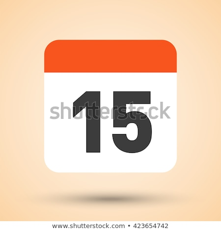 Simple black calendar icon with 15 june date isolated on white Stock photo © evgeny89