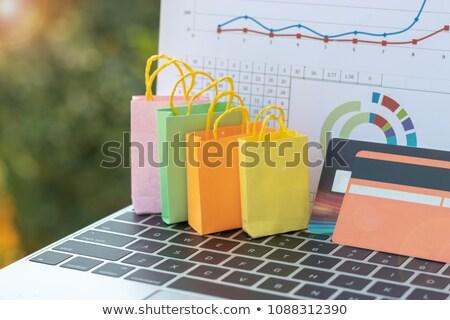 オンラインショッピング 紙袋 ノートパソコン ストア ビジネス 紙 ストックフォト © yupiramos