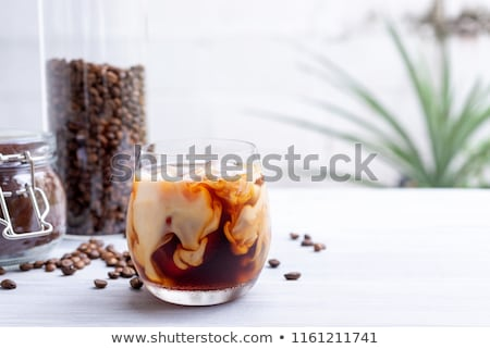 Glass with ice for cold brew coffee Stock photo © furmanphoto