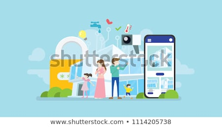 Parental control software concept landing page. Stock photo © RAStudio