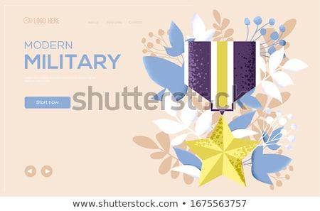 özel askeri güçler afiş küçücük Stok fotoğraf © RAStudio