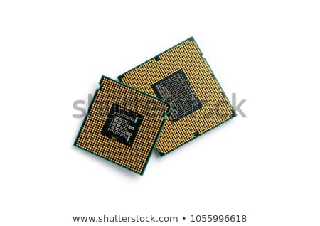 CPU · aislado · blanco · enchufe · tecnología · cerebro - foto stock © foka