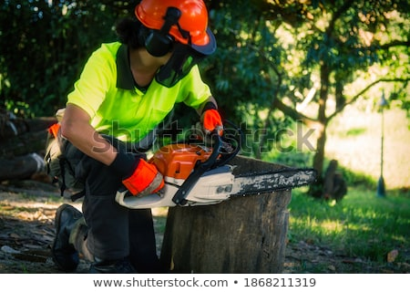 woman with chainsaw Stock photo © 26kot