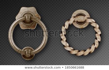 Acél ajtóküszöb gyűrű textúra ajtó fém Stock fotó © RuslanOmega