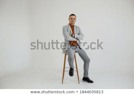 Photo stock: Jeune · homme · costume · rire · président · bureau · affaires