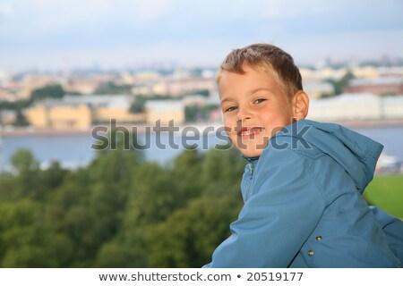 мальчика ребенка свет улице зеленый городского Сток-фото © Paha_L