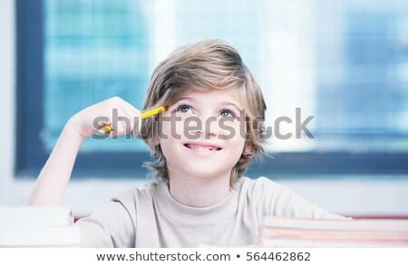 Feliz elemental colegial retrato alegre blanco Foto stock © williv