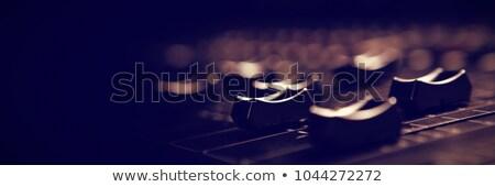 Ses mikser detay iki hatları Stok fotoğraf © smithore