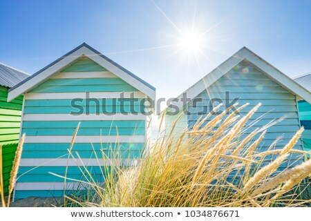 Stock photo: Shed on the beach