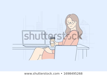 Corporate lady posing with documents Stock photo © stockyimages
