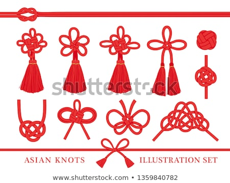 Chinese auspicious red knot Stock photo © bbbar