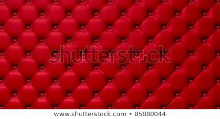 Kırmızı deri kanepe iç oda aile Stok fotoğraf © Ciklamen