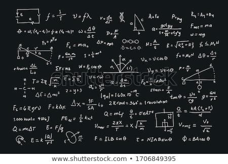 Algebra formulas Stock photo © grafvision