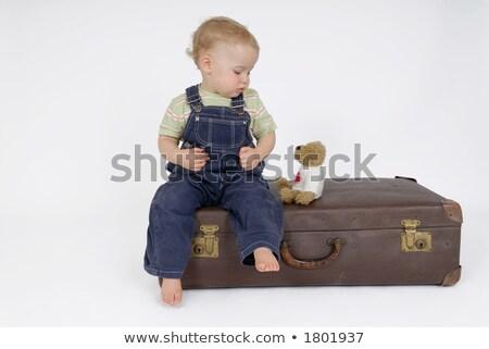 amazed child and toy railway stock photo © pzaxe
