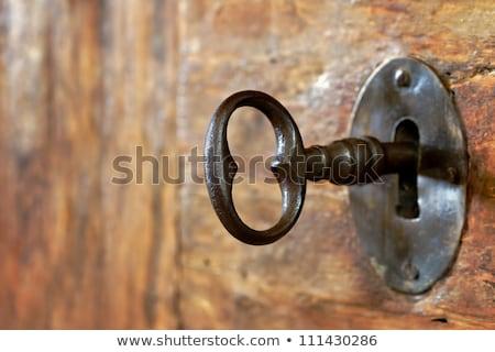 キー · アンティーク · ドアの鍵 · 孤立した · 白 - ストックフォト © ruslanomega