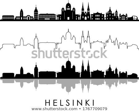ストックフォト: シルエット · ヘルシンキ · 旅行 · 国 · 歴史 · カラー