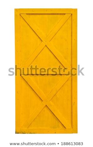 Yellow Painted Barn Door Stock photo © pixelsnap