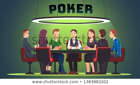 Professionele poker speler foto groot Stockfoto © sumners