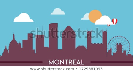 Cartoon Montréal Skyline silhouette ville Québec Photo stock © blamb