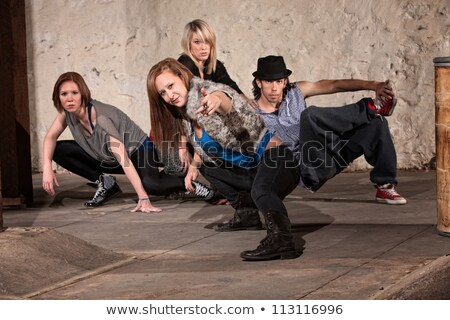 woman dancer leaning on kneeling man Stock photo © feedough