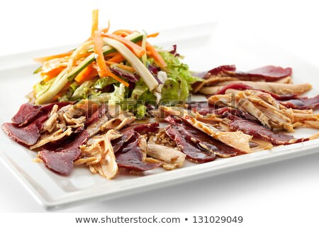 salad with foie gras Stock photo © cynoclub