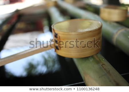 washing basin of bamboo at shrine in tokyo stock photo © hofmeester