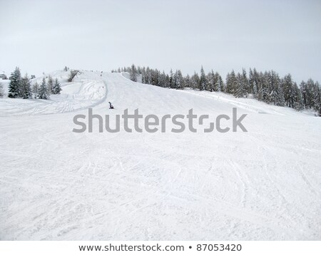 lots of snow in wagrain stock photo © prill