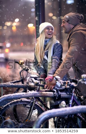 bicycles in snow stock photo © alenmax
