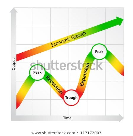 経済の サイクル 図 成長 時間 赤 ストックフォト © liliwhite