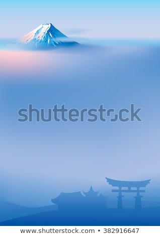Mount Fuji and Torii Gate Stock photo © dayzeren