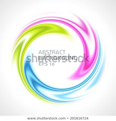 Abstract colorful swirls symbolizing happiness. Vector illustration. stock photo © prokhorov
