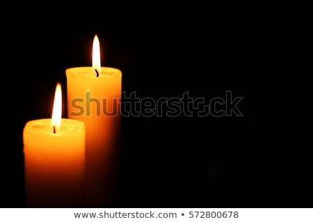 Gyertyák fekete tűz otthon éjszaka élet Stock fotó © grasycho