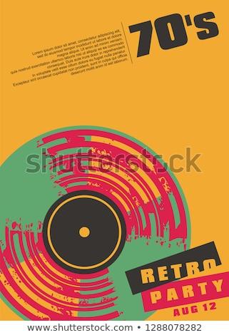 bakelit · lemez · grunge · absztrakt · vektor · művészet - stock fotó © robertosch