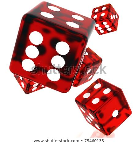 Piros kocka 3d illusztráció fehér üzlet doboz Stock fotó © grasycho