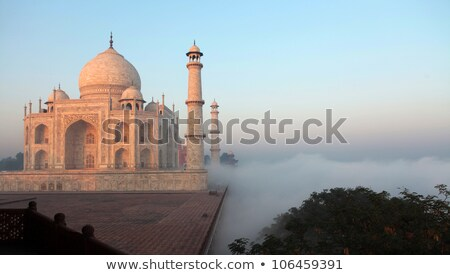 Taj Mahal at sunrise in fog Stock photo © Mikko