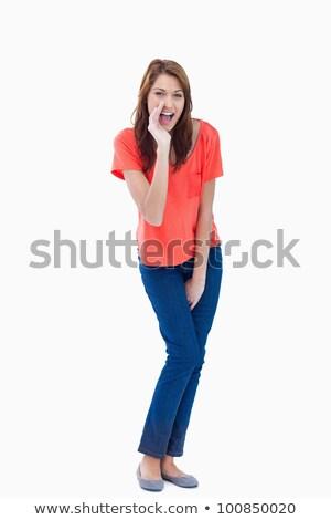 Kamasz suttog fehér öröm gyönyörű modern Stock fotó © wavebreak_media
