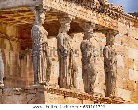 Detail of the Parthenon in Athen Stock photo © elxeneize