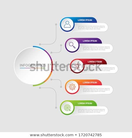 Modelo de design dados exibir papel Foto stock © DavidArts