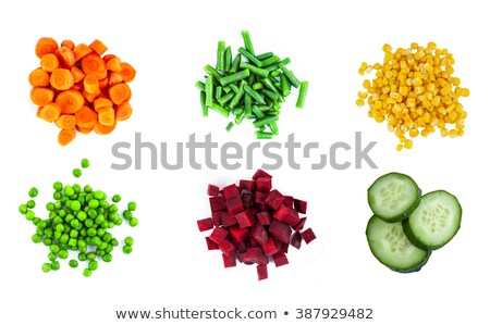 raw green beans and carrot Stock photo © M-studio