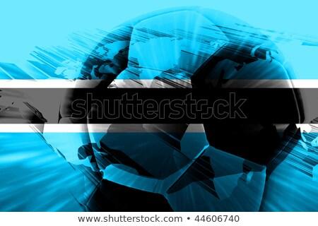 futebol · bandeira · Botswana · isolado · branco · esportes - foto stock © MikhailMishchenko
