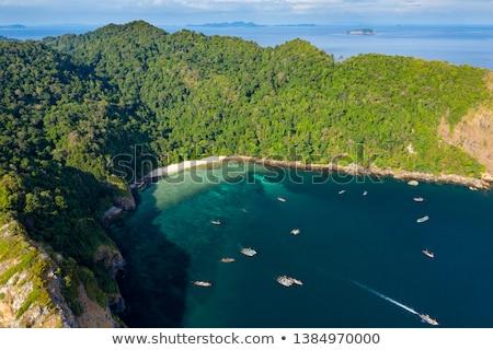синий флот лодка пляж воды Сток-фото © flotsom